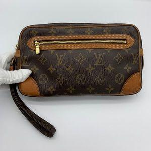 Louis Vuitton monogram Dragonne clutch